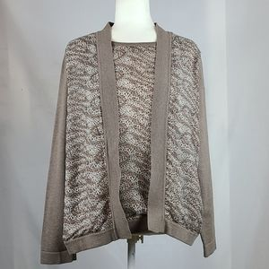 Alfred Dunner Cardigan and Shell Set